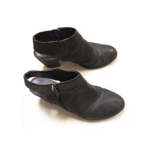 Franco Sarto Black Slingback Block Heel Mules 10